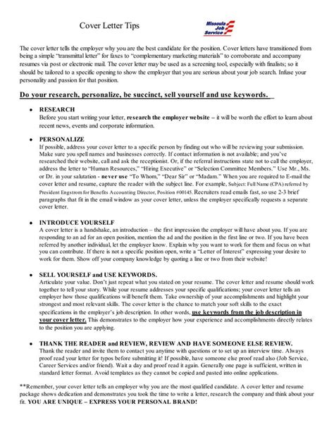 Cover Letter Tips Cover Letter Tips Http Careers Ua Edu Career Builder