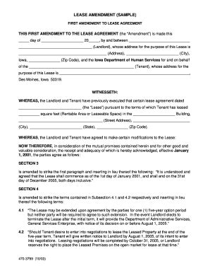 lease amendment form amendment to lease forms and templates fillable