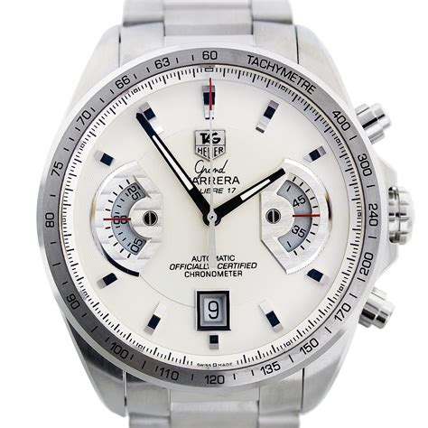 Tagheuer Cal 17 Silver tag heuer grand cav511b silver mens
