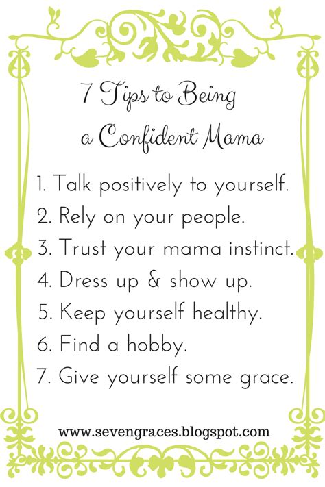 7 Tips On Being A by 7 Tips To Being A Confident A Repost Seven Graces