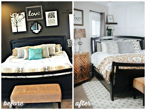 before and after bedrooms bright cheery master bedroom
