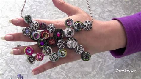 how to make jewelry from recycled materials diy recycled magazine jewelry made easy