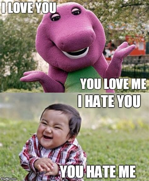 Barney Meme - i hate barney pictures to pin on pinterest pinsdaddy
