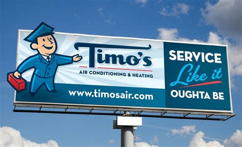 All Comfort Heating And Cooling by Timo S Heating Air Conditioning Billboard In Palm