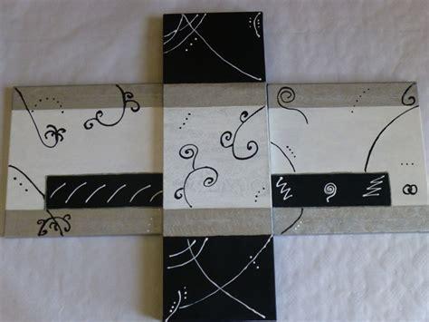 encadrement tableau 1034 tableau abstrait harmonie noir gris blanc