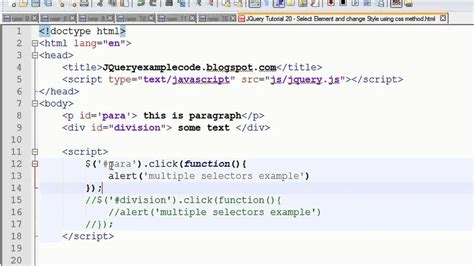 tutorial one page website jquery jquery tutorial 21 multiple selectors in jquery with