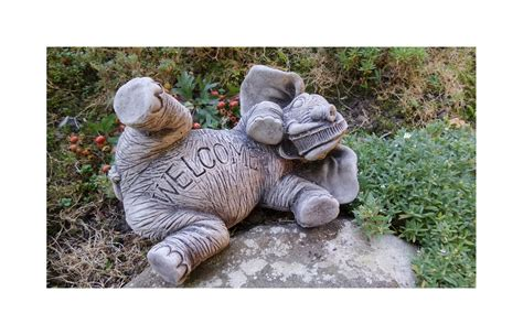 Elephant Garden Decor Elephant Welcome Sign Garden Ornament Home Yard Garden Decor Gift Onefold Uk Ebay
