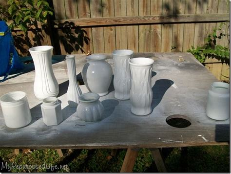 Can You Spray Paint Glass Vases by Spray Painting Glass Vases Craft Ideas