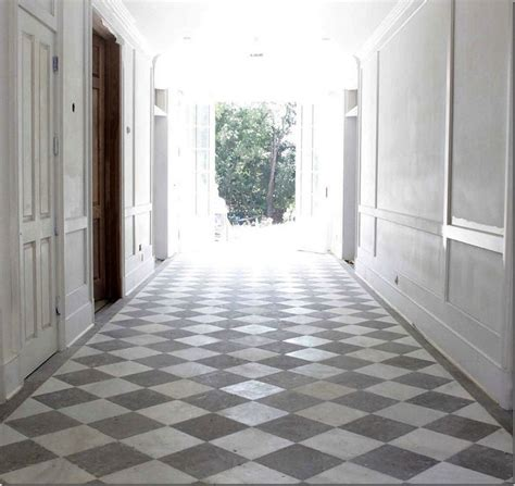 white gray limestone floors checkerboard floor pinterest