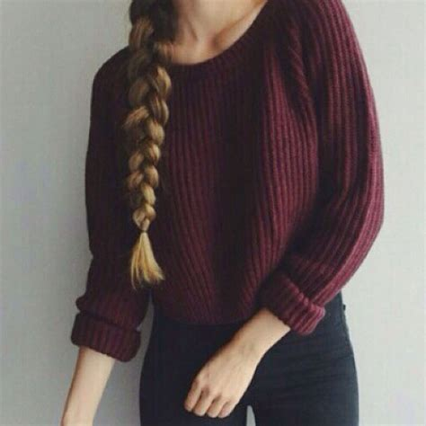 Sweater Pria Other Sweater Casual autumn winter sweaters and pullovers korean style sleeve casual crop sweater slim