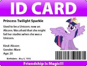 me princess twilight s id card by twilight mlp sparkle