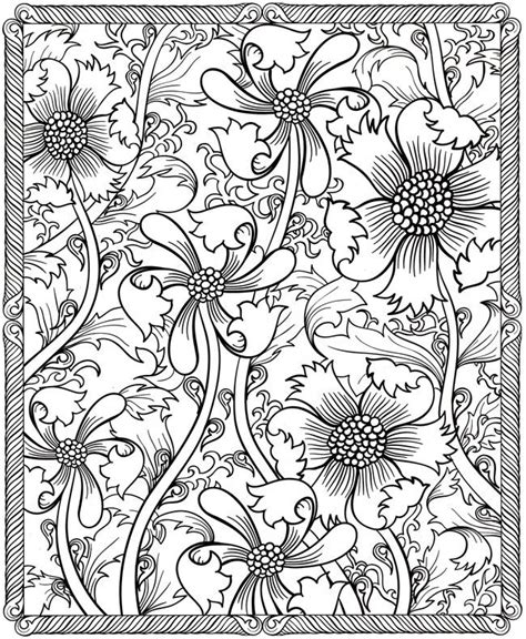 Flower Design Coloring Pages floral design coloring page printables