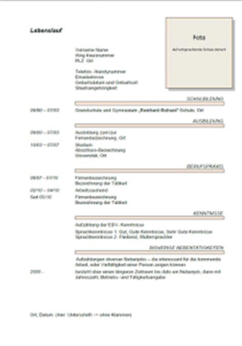 Lebenslauf Muster Weiterführende Schule Lebenslauf Muster 2014 Muster Lebenslauf