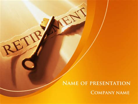Retirement Pension Plan Presentation Template For Powerpoint And Keynote Ppt Star Microsoft Powerpoint Templates Retirement