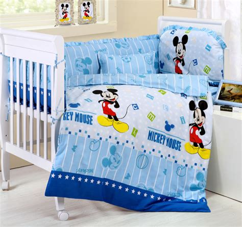Mickey Mouse Cot Bumper Bedding Sets Promotion 10pcs Mickey Mouse Baby Bedding Sets Cot Quilt Bed Sheet Baby Care Bumpers