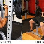 bench press motion which exercise is better partial range of motion bench press or full range of motion