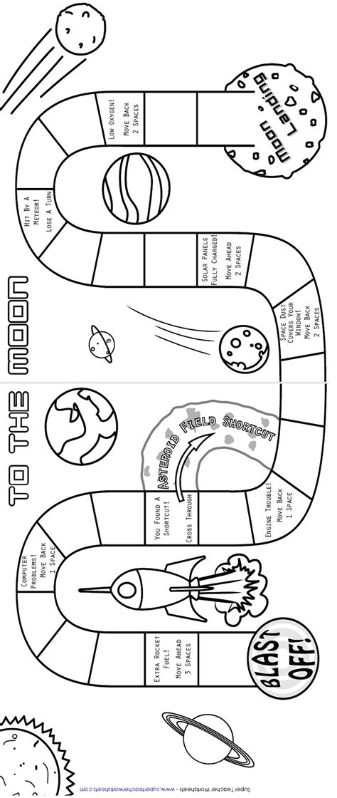 printable science board games printable board game