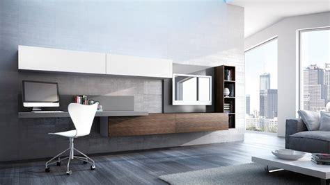 pareti attrezzate con scrivania parete attrezzata sospesa home office di kico