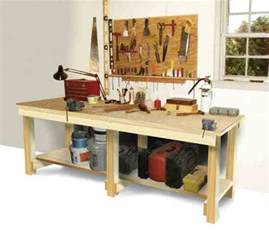 Building A Workshop by How To Build A Workbench Diy Mother Earth News