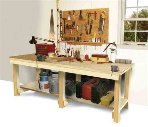 how to make a tool bench how to build a workbench diy mother earth news