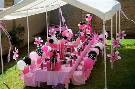minnie mouse backyard party quot pink black minnie mouse party quot by treasures and tiaras