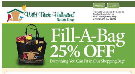 small business black friday wild birds unlimited 25 off