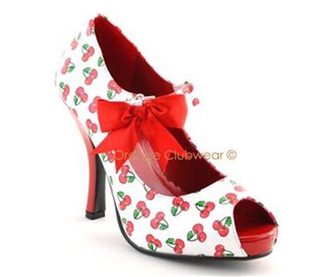 cherry high heels pinup womens vintage style cherry high heels