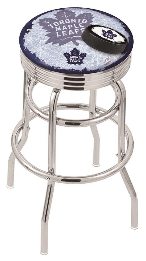 bar stools toronto toronto maple leafs bar stool w official nhl logo