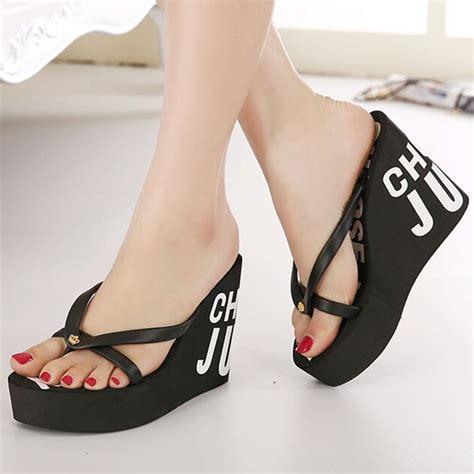Wedges Spon Helo 5 Cm 1 2016 new fashion summer 11cm high heels rubber flip