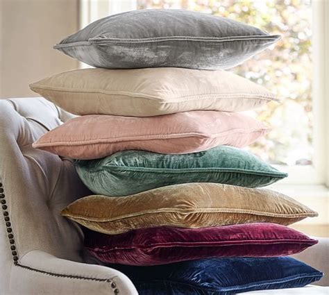 Covering A Pillow by Nia Velvet Pillow Cover Pottery Barn