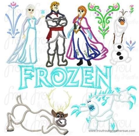 embroidery design frozen freezing eleven design set machine applique embroidery
