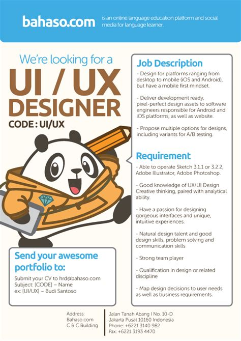 design career indonesia ui ux designer bahaso studentjob indonesia