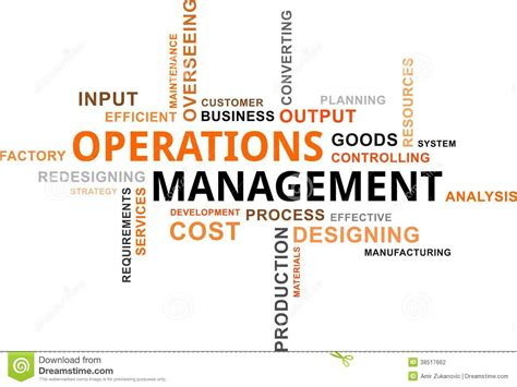operation management word cloud operations management stock vector image