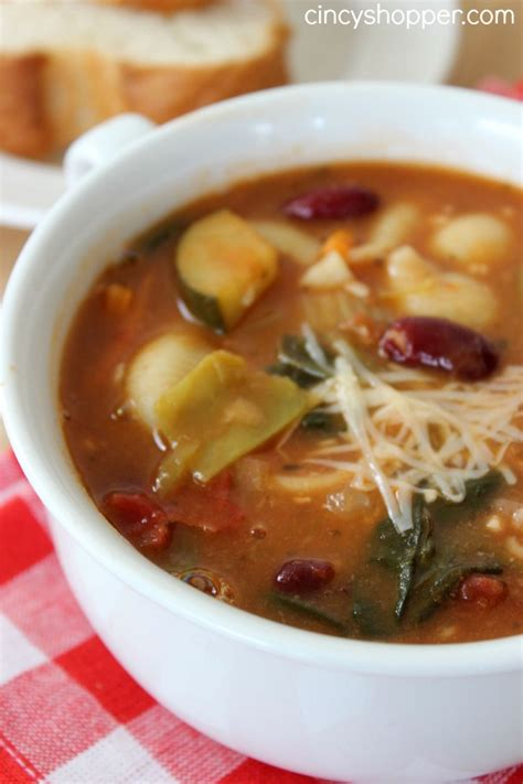 Olive Garden Minestrone Soup Recipes copycat olive garden minestrone soup cincyshopper