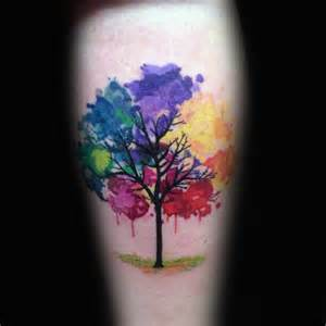 baseball cross tattoo 70 watercolor tree tattoo designs for men manly nature ideas
