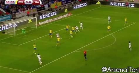 outrageous goals olivier giroud scores outrageous goal for france against