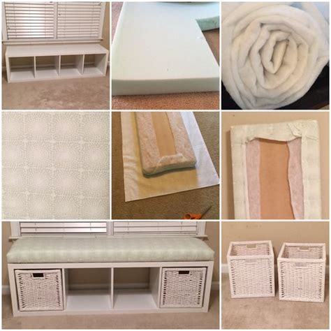 upholstery foam home depot ikea hack shelving unit turned into a window bench for