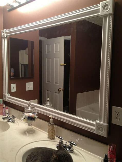 do it yourself bathroom mirror frame diy mirror frame ideas doherty house