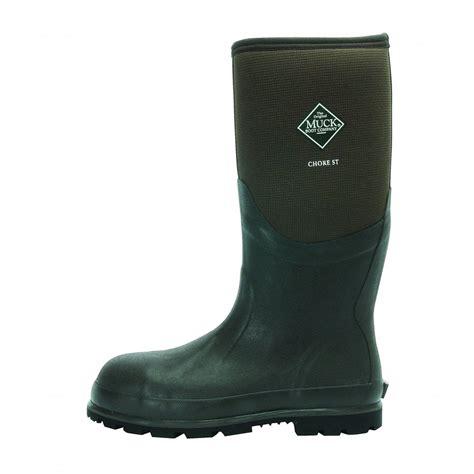 the muck boot company the muck boot company chore hi steel toe cap moss