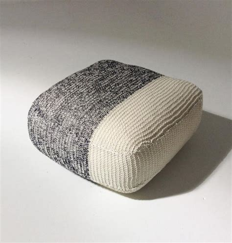 Handmade Floor Cushions - handmade knitted floor cushion mottled grey gfurn