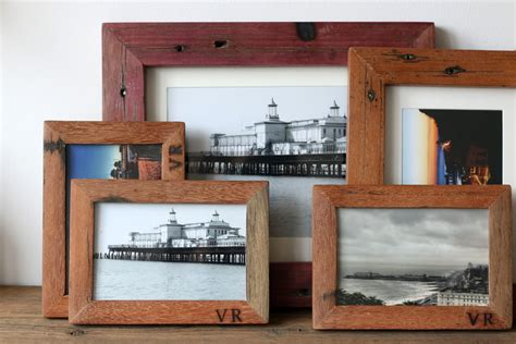 Handmade Wooden Picture Frames - handmade reclaimed wood frames lobster and swan