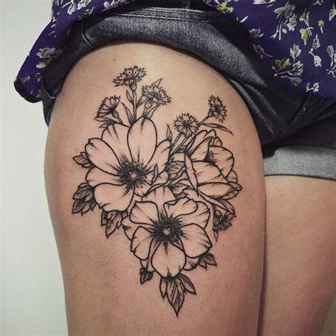 feminine thigh tattoos 25 best ideas about feminine thigh tattoos on