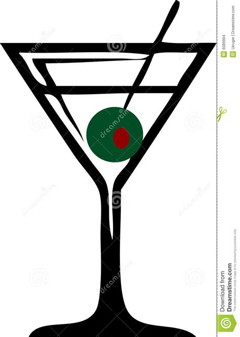 martini olives clipart martini glass stock images image 6089994