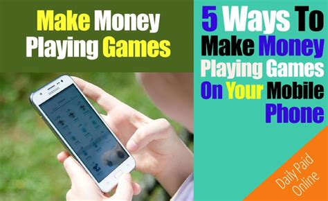 Make Money Playing Games Online For Free - 5 ways to make money playing games on your android phone