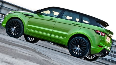 lime green range rover kahn design range rover evoque styling kit car tuning