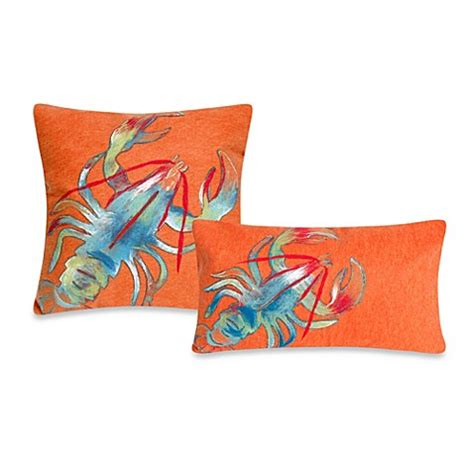 bed bath and beyond outdoor pillows liora manne outdoor throw pillow collection in lobster