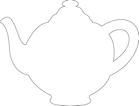 free printable teapot templates tea pot template programming games pinterest