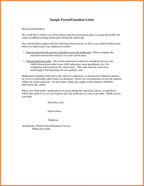parental permission letter