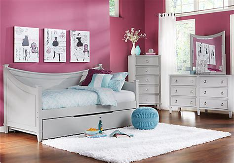 olivia 3 pc daybed bedroom rooms to go kids kids jaclyn place gray 3 pc daybed bedroom twin bedroom sets