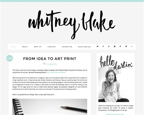 Layout For Blog | blog design and layout inspiration whitney blake blog